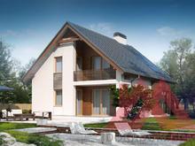 """Проект каркасного дома """"Грация"""", 11*11 м, 159 м.кв."""