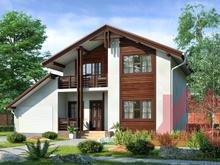 "Проект каркасного дома ""Залесье"" 9*12 м, 140 м.кв."