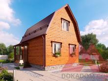 "Проект каркасного дома ""Кипарис"", 5,8*5,4, 45 м.кв."