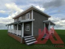 """Проект каркасного дома """"Атлас"""", 10*5, 75 м.кв."""