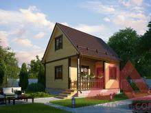 """Проект каркасного дома """"Дачник"""", 5*5,5, 58 м.кв."""