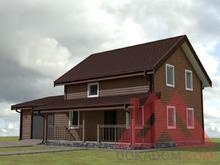 "Проект каркасного дома с гаражом ""Аллегро-2"" 14*9, 153 кв.м. под ключ"