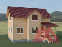 """Проект каркасного дома """"Терем-3M"""", 6*9 м, 84 кв.м."""