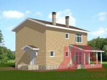 "Проект каркасного дома ""Модесто"", 11*10,5 м, 143 м.кв."