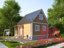 """Проект каркасного дома """"Бристоль"""", 5*5,5, 43 м.кв."""