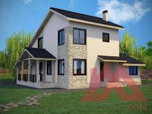 """Проект каркасного дома """"Этюд"""", 11,1*10,3 м, 175 м.кв. под ключ"""