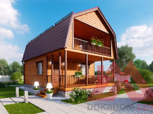 "Проект каркасного дома ""Турион"", 6*8,5, 54 м.кв."
