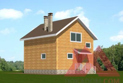 "Проект каркасного дома ""Шафран"", 7*8 м, 96 м.кв."