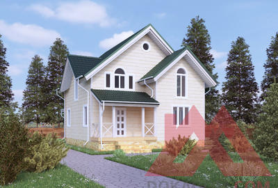 "Проект каркасного дома ""Квинта"", 9*8 м, 116 м.кв"