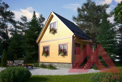 "Проект каркасного дома ""Кураж"", 5*4, 31 м.кв."