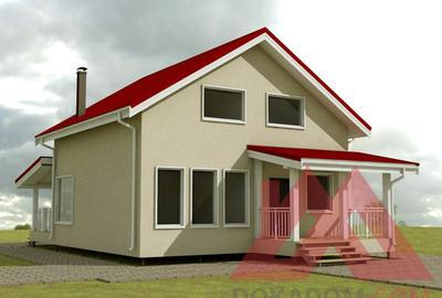 """Каркасный дом """"Анастасия"""" 8,5*8,5 м, 121 м.кв."""