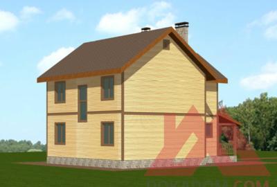 """Проект каркасного дома """"Алекса"""", 10*9 м, 129 м.кв."""