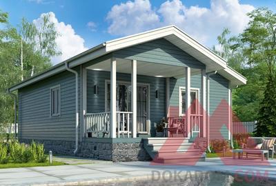 "Проект каркасного дома ""Брик"", 9.7*8.8, 75 м.кв."