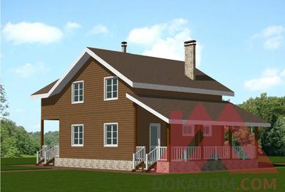 "Проект каркасного дома ""Робин"", 13,5*8 м, 153 м.кв."