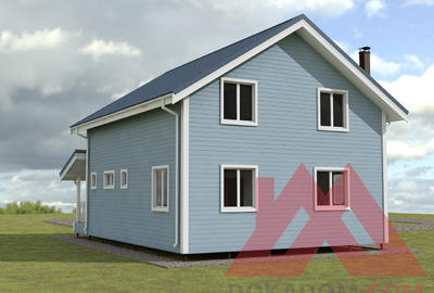 "Проект каркасного дома ""Карат"", 8,5*10 м, 147 м.кв."