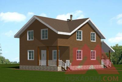 """Каркасный дом """"Робин"""", 13,5*8 м, 153 м.кв."""