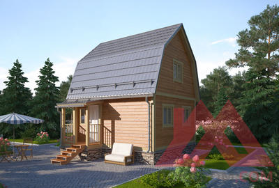 "Проект каркасного дома ""Купала"", 5*5,5, 43 м.кв."