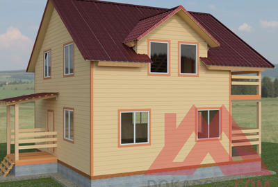 """Проект каркасного дома """"Премьер"""", 9*9, 140 кв.м."""