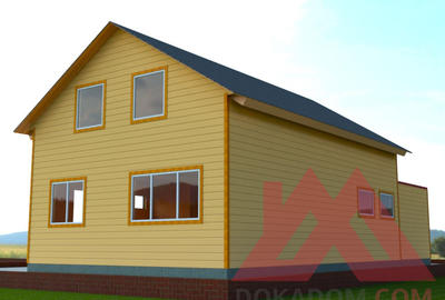 "Проект каркасного дома ""Лапландия"" с гаражом, 15*7,5 м, 152 кв.м."