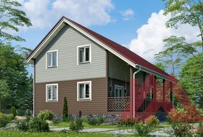 "Проект каркасного дома ""Аристократ"", 10*9,6, 120 м.кв."