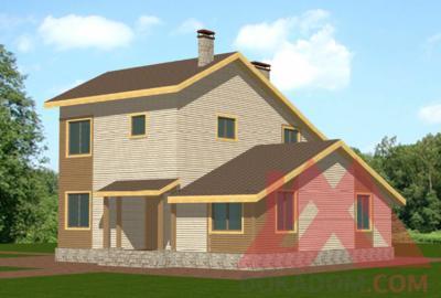 """Проект каркасного дома """"Этюд"""", 11,1*10,3 м, 175 м.кв."""