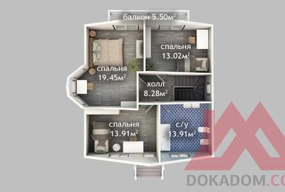 """Проект каркасного дома """"Валькирия"""" 9*9 м, 130 м.кв."""
