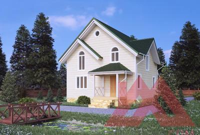 """Каркасный дом """"Квинта"""", 9*8 м, 116 м.кв"""