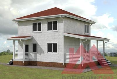 """Каркасный дом """"Ланта"""", 8*8 м, 129 м.кв."""