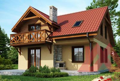 "Проект каркасного дома ""Феона"", 9*8 м, 112 м.кв."