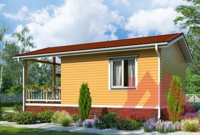 "Проект каркасного дома ""Мокки"", 6*9 м, 36 м.кв."