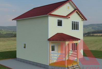 """Проект каркасного дома """"Валдай"""", 7.2*7.2м, 82 кв.м."""