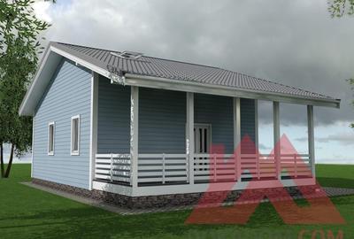 "Проект каркасного дома ""Лофт"", 12*7,6 м, 83 м.кв."