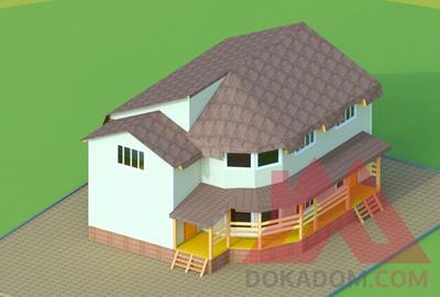 """Проект каркасного дома """"Ларри"""", 13*10 м, 182 кв.м."""