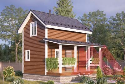 "Проект каркасного дома ""Канадец"" 6*4, 40 кв.м."