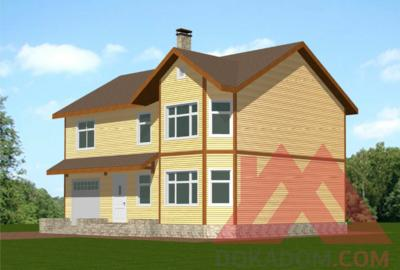 """Проект каркасного дома с гаражом """"Вереск"""", 13*10 м, 207 м.кв."""