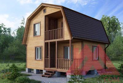 """Проект каркасного дома """"Рябинушка"""", 5,5*6 м, 49 м.кв."""