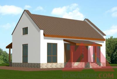 """Проект каркасного дома """"Камилла"""", 11*11 м, 78 м.кв"""