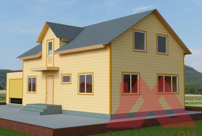 """Каркасный дом """"Лапландия"""", 15*7,5 м, 152 кв.м."""