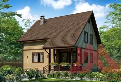 "Проект каркасного дома ""Каштан"", 8,9*7,9, 129 м.кв."