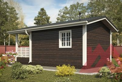 "Проект каркасного дома ""Мокки-Лайт"", 4,5*8 м, 22 м.кв."