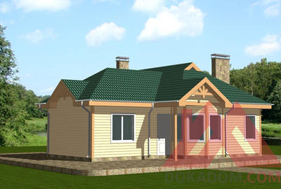 "Проект каркасного дома ""Эрика"", 11.5*11 м, 89 кв.м."