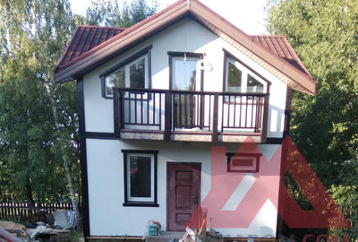 "Проект каркасной бани ""Владимир"" 6*6, 68 м.кв."