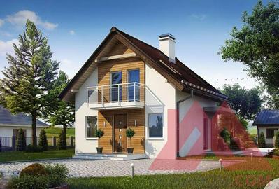 """Проект каркасного дома """"Аура"""" 7,5*7,5, 78 м.кв."""