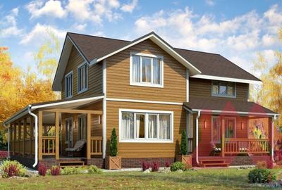 """Проект каркасного дома """"Викинг-2"""", 8,5*10,6, 162 м.кв."""
