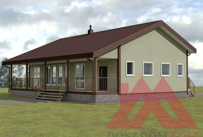 """Проект каркасного дома """"Шуя-2"""", 15*8, 130 кв.м."""
