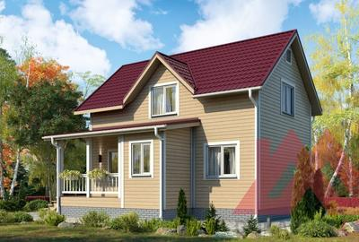 """Проект каркасного дома """"Терем-2"""" 6*9, 98 кв.м."""