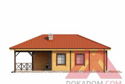 "Проект каркасного дома ""ОС-01"" 10.7*8.6, 65 м.кв."