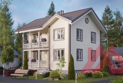 """Проект каркасного дома """"Аляска-2"""", 8*10, 120 м.кв."""