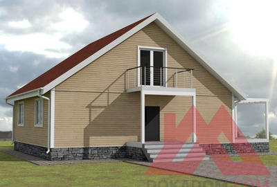 "Проект Проект каркасного дома ""Лофт-2"", 12*10 м, 200 м.кв"
