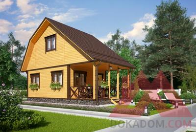 """Проект каркасного дома """"Пересвет"""", 5*4, 21 м.кв."""